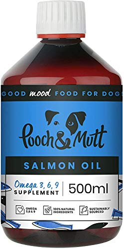 Pooch & Mutt 3 x Natural Salmon Oil for Dogs and Cats (Rich in Omega 3, 6 and 9) - 500 ml