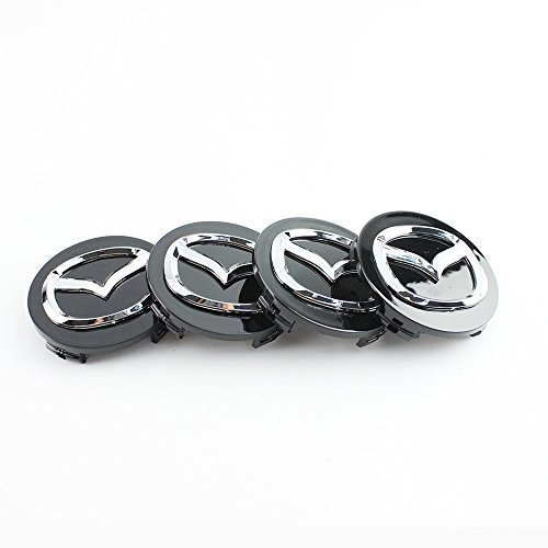 4tapacubos de aleación de 56mm, con el logo de Mazda