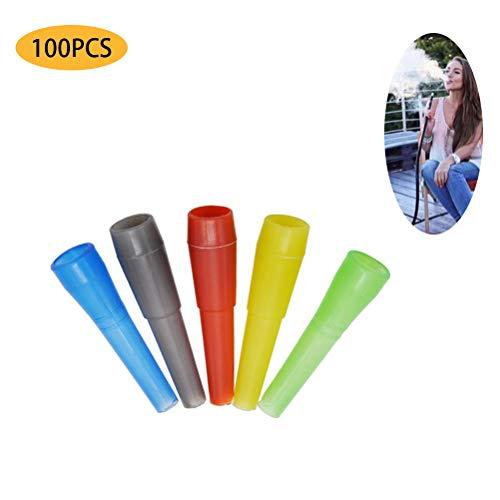100 Stück Shisha Einweg Mundstücke, Shisha Hygienemundstück für Wasserpfeife für Shisha u. Wasserpfeife   Hookah Mouth Tips, 53MM