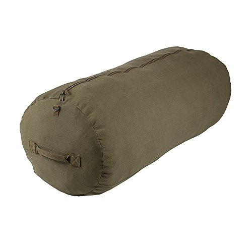 Deluxe Duffel Bag w/Zipper, Olive Drab, (1230)