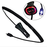 eFactory Direct Touch LED Light Car Charger for Huawei Ascend Y210 with Quick 2.1A with Extra USB...