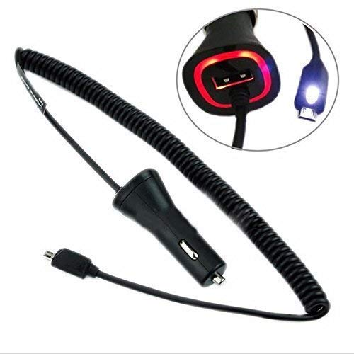 eFactory Direct Touch LED Light Car Charger for Samsung SM-R150NZBAXAR with Quick 2.1A with Extra USB Port