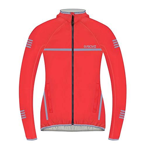 Proviz Women's Classic Waterproof Running Jacket, Red , UK 16