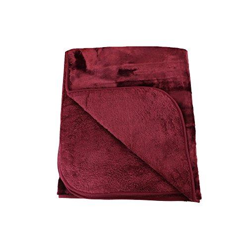 Amago Couverture extra-douce, Cashmere-Feeling, Bordeaux, 220 x 240 cm, 40024-33-2040
