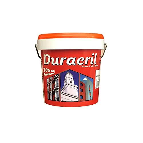 Pintura Duracril Liso - Color Azul Añil - 4 Litros - Resistente a la Intemperie y a la Radiación Ultravioleta - Pintura Transpirable - Pigmentos Inorgánicos - Especial Para Fachadas - Duracolor