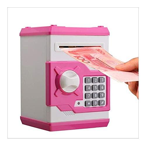 HKX Caja Fuerte electrónica de la Hucha Cajas de Dinero para la Caja de Seguridad de los niños, Cajas Fuertes de la Pared
