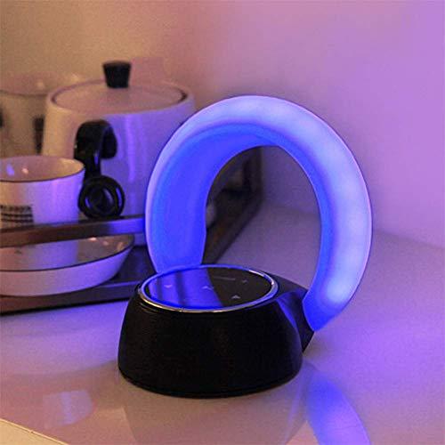 Touch Control Mesita de luz de la lámpara los niños Cuna luz de la noche cama cubierta de luz ambiente del dormitorio del hogar Sala Ambiente de apoyo moderado función de alarma del reloj Altavoz Blue