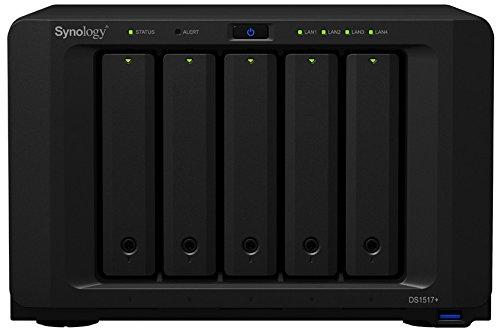 Synology DiskStation DS1517+ Collegamento ethernet LAN Scrivania Nero NAS