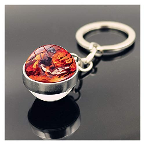 Tderloi Keychain 2020 Cute Cartoon Keychain Keyring Glass Ball Keychain (Color : TA0106)