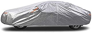 WYZXR Full Car Cover Waterproof, Windproof, Dustproof, UV Resistant, Non-Flammable, Silver, Aluminum Film, Suitable for Audi Models (Color : Silver, Size : Audi RS7)