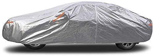 Copriauto completo impermeabile, antivento, antipolvere, resistente ai raggi UV, non infiammabile, argento, pellicola in alluminio, adatto per modelli Audi (Colore: argento, Dimensioni: Audi Q3)