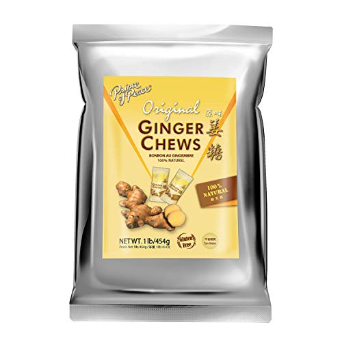 Prince of Peace Original Ginger Chews, 1 lb. – Candied Ginger – Candy Pack – Ginger Chews Candy – Natural Candy – Ginger Candy for Nausea