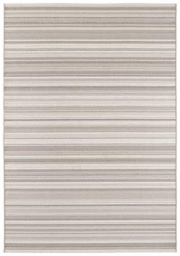 Elle Decor Calais Alfombra, Crema Beige y Pardo, 200 x 290 cm