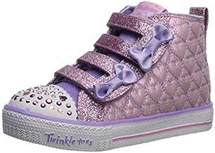 Skechers Kids Girls' Shuffle LITE-Quilted Beauties Sneaker, Pink/Lavender, 7 Medium US Toddler
