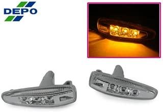 DEPO 08-14 MITSUBISHI LANCER EVO 10 X CLEAR LED FENDER SIDE MARKER LIGHTS JDM STYLE