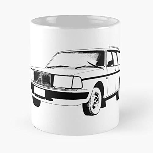 5TheWay Volvo Mug Wagon Best 11 oz Kaffeebecher - Nespresso Tassen Kaffee Motive