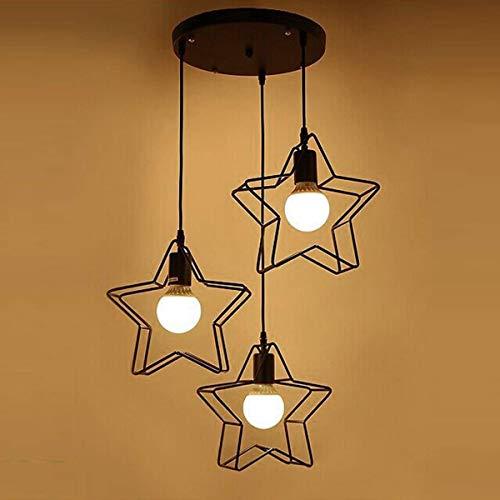 Duurzame hanglamp modern licht ijzer LED kroonluchter woonkamer slaapkamer keuken lamp vijfpuntige ster creatieve 360 graden roterende kroonluchter (kleur: AC 220V, Maat : koud wit), Grootte: koud wit, C