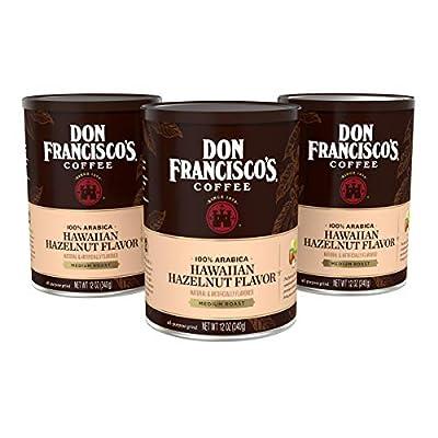 Don Francisco's Hawaiian Hazelnut— Flavored Ground Coffee—100% Arabica—3 Cans (12 oz. each)