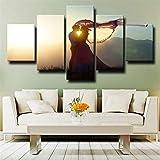 COCOCI Lienzo 5 Piezas Sunshine Romantic Love Lienzos Decorativos Cuadros Grandes Baratos Cuadros Decoracion Cuadros para Dormitorios Modernos Cuadros Decoracion Regalos Personalizados
