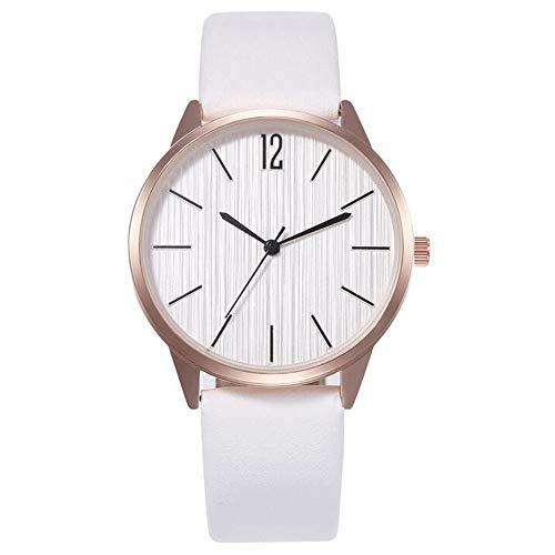 ZSDGY Reloj de Pulsera de Moda para Mujer, Reloj de Cuarzo con Correa Simple B