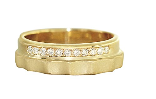 Hobra-Gold Massiver Bandring - Ring Gold 585 Mit Brillanten Goldring - Brillantring Massiv