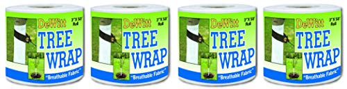 Affordable Dewitt 3-Inch by 50-Foot Tree Wrap White TW3W (Fоur Paсk)
