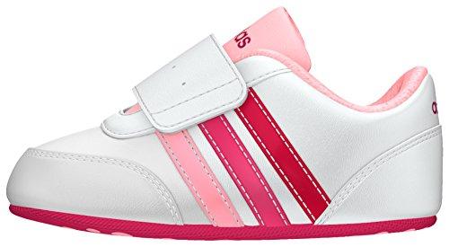 adidas Unisex Kinder V Jog Crib Krabbel- & Hausschuhe, Blanco (Ftwbla/Rosfue/Rosa), 20 EU