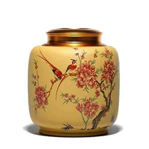 DIBAO Decoración de la Mesa de té Latas de té Pintado Hanmei...