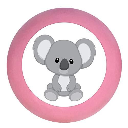 """Schrankknauf""""Koala"""" mittelrosa rosa Holz Buche Kinder Kinderzimmer 1 Stück wilde Tiere Zootiere Dschungeltiere Traum Kind"""