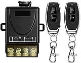 Interruptor remoto inalámbrico, AC 110 V/120 V/240 V/40 A, interruptor RF inalámbrico para electrodomésticos, bomba, luces de techo y equipo eléctrico con interruptor remoto de largo alcance de 100 m