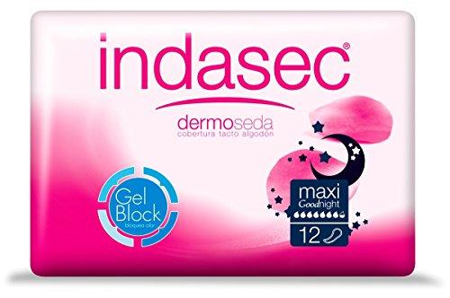 Indasec Dermoseda Good Night Compresa Incontinencia Maxi - 12 Unidades
