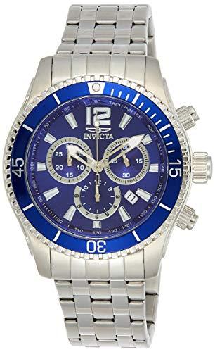 Invicta 0620 Specialty Reloj para Hombre acero inoxidable Cuarzo Esfera azul