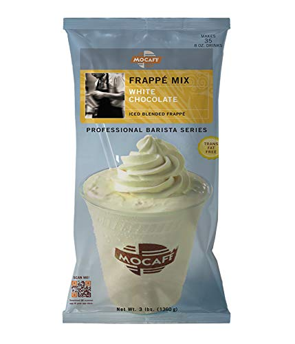 MOCAFE Frappe White Chocolate Ice Blended Frappe, 3-Pound Bag Instant Frappe Mix, Coffee House Style...