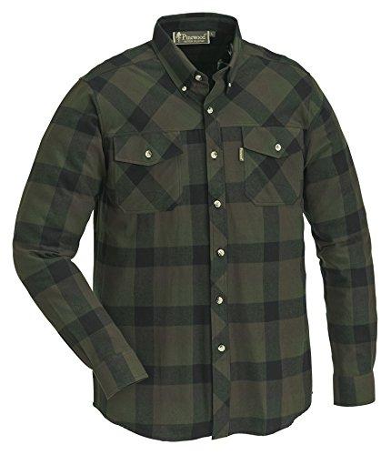 Pinewood Herren Lumbo Hemd, Grün/Schwarz, XL