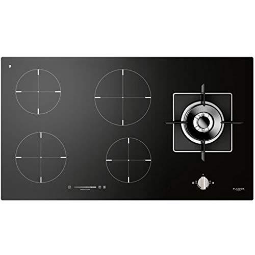 Fulgor Milano - Tavole di cottura miste a gas e a induzione, nero