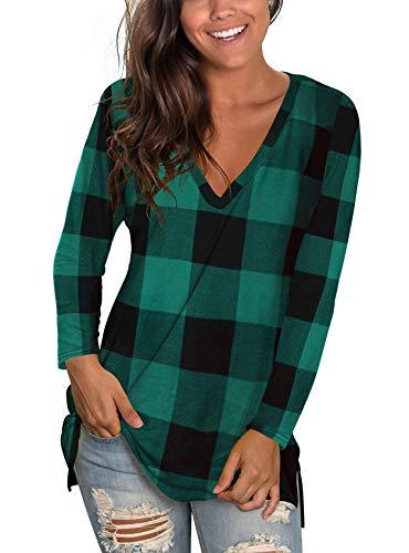 liher Womens Fall Clothes Long Sleeve Shirts V Neck Christmas Tee Tops
