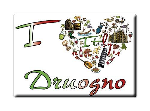 Enjoymagnets DRUOGNO CALAMITA Magnete Piemonte (VB) Italia Fridge Magnet Souvenir I Love (VAR. Symbol)