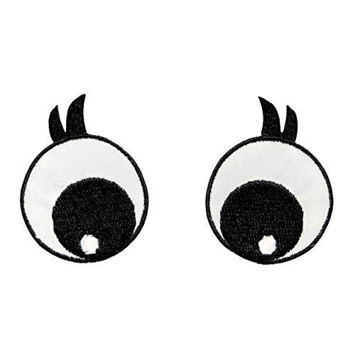 Prym Applikation Augen schwarz/weiß mit Wimpern