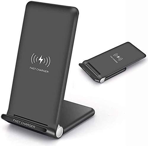 MRTYU-UY Cargador inalámbrico, 15 W de carga rápida, soporte plegable para teléfono de escritorio, para Galaxy S10 S9 S9, 7.5 W para iPhone 11 11 Pro 11 Pro Max Xs Max Xs XR