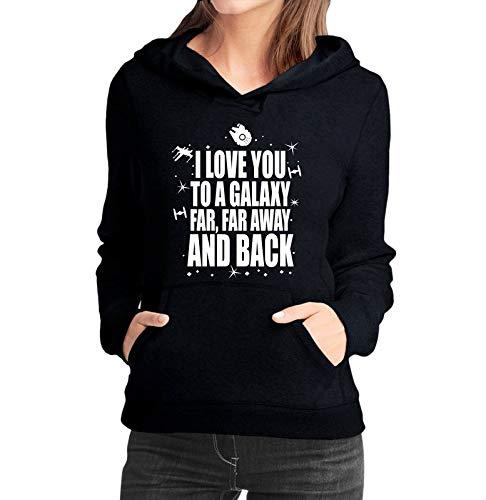 Moletom Feminino Star Wars Filme Galaxy - Moletons Personalizados Blusa/Casacos Baratos/Blusão/Jaqueta Canguru (preto, g)