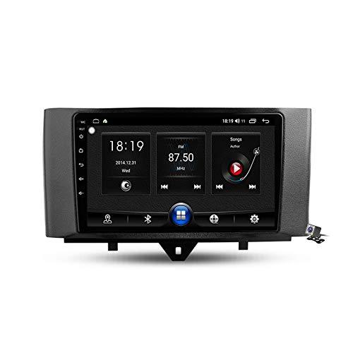 Android 10 9 Pollici Autoradio Multimediale per Mercedes Benz Smart Fortwo 2 2010-2015 Supporto Navigatore GPS/FM AM RDS 5G DSP/Bluetooth Vivavoce/Carplay/Controllo del Volante,7731