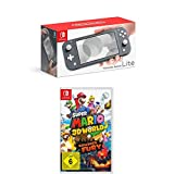 Nintendo Switch Lite, Standard, Grau + Super Mario 3D World - Bowser's Fury
