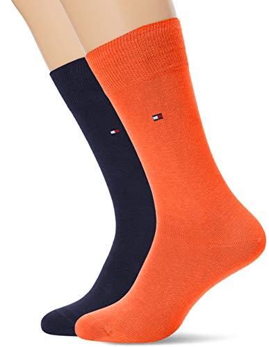 Tommy Hilfiger Herren TH MEN CLASSIC 2P Socken, Orange (Coral 009), 43-46 (2er Pack)