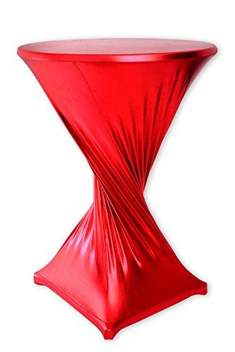 Mc-Stoff Stretch Husse für Stehtische Bistrotische Stehtischhusse ROT 90 cm Outdoor und Indoor Nutzung imprägniert wasserabweisend TischdeckenTischüberzug