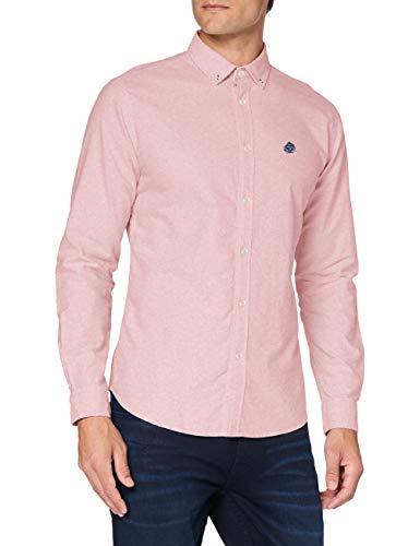 Springfield Camisa Oxford Shirt, Rojo, XL Mens