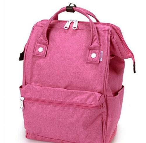 Multifunktionale Student Rucksack leinen wasserdicht wasserdicht Mama Tasche Paar Rucksack Kinder Schultasche-Rose rot_Trompete