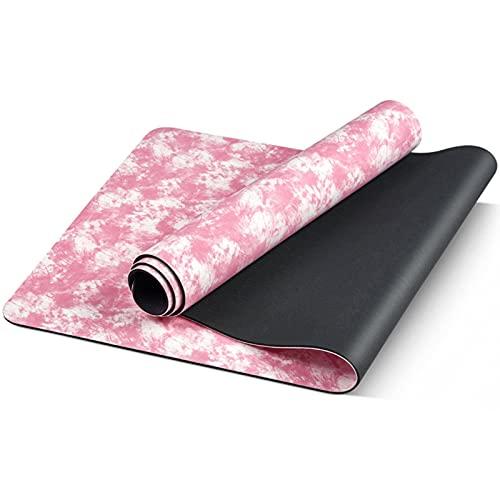 N\C Esterilla de Yoga de Goma Natural PU Antideslizante Absorbente de Sudor Ensanchada de 5 mm, Resistencia Al Desgarro y Agarre Fuerte. Es Una Esterilla Ideal para Practicantes de Yoga.