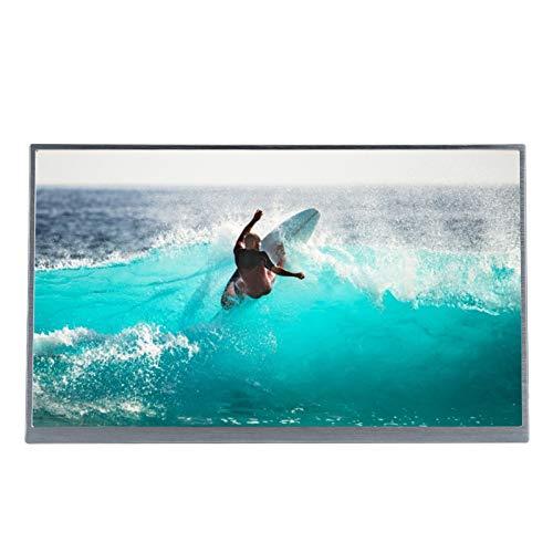 Monitor portátil, Monitor de Pantalla Full HD 1080P de 15 Pulgadas, Panel IPS All Sight 72% NTSC, retroiluminación W-LED, con Interfaz Mini HDMI/USB/USB-C, para computadora de teléfono(Plata)