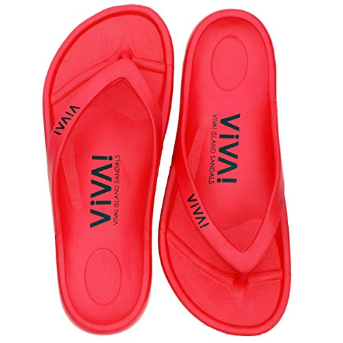 [VIVA! ISLAND] SANDALS(ビバアイランド) FLIP FLOP ビーチサンダル Red/37 (23.5〜24.0cm)