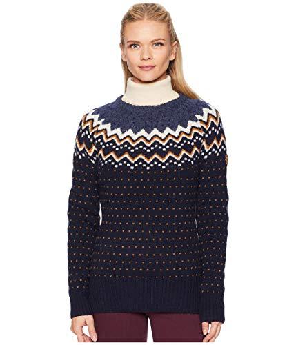 FJÄLLRÄVEN Damen Övik Knit Sweater W Sweatshirt, Blau (Dark Navy 555), XL